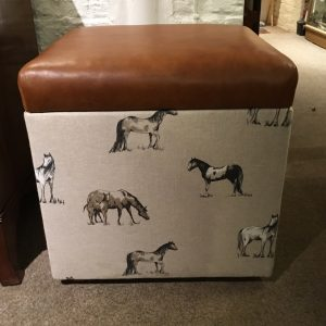 Ottoman Box With Leather Top