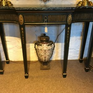 Marble Top Console Table   SOLD
