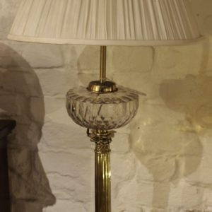 Brass and Glass Oil Lamp