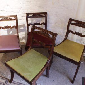 Set 4 Regency Mahogany Chairs