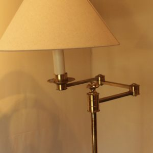 Swing Arm Floor Lamp with Table