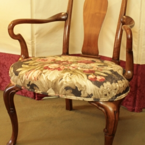 A Quality Walnut Open Armchair