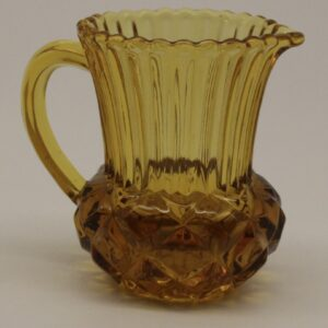 Amber Pressed Glass Milk Jug