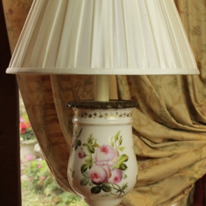 Hand Painted Glass Table Lamp