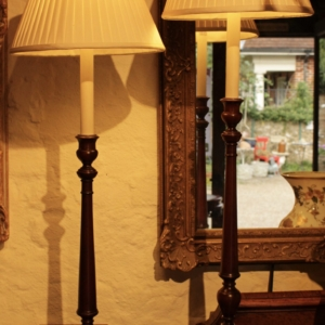 Pair of Mahogany Tall Table Lamps SOLD